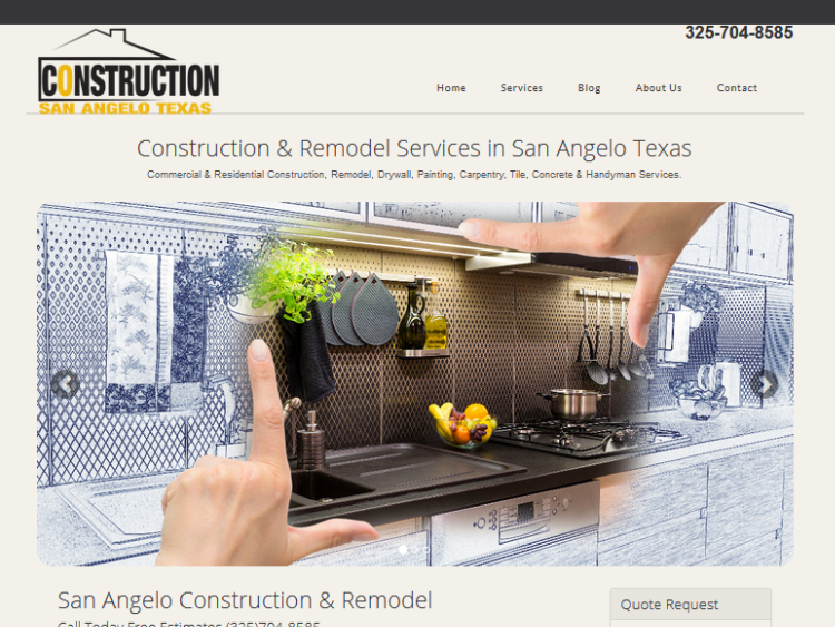 Image of a construction web site for social media marketing in Midland Texas
